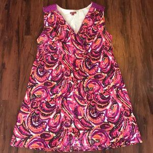 Merona Pink Purple Paisley Sleeveless Dress 2